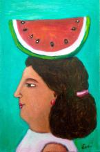 Mexican Folk Art-Oil on Wood-Pure Life by Esau Andrade