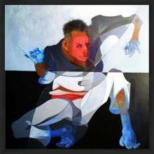 Original Acrylic on Canvas-Monkey Man- 33 x 31 in.
