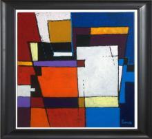 Original Alfonso Ferro-Original Mixed Media on Canvas