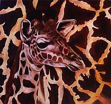 Original Oil on Canvas-Giraffe