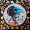 Original Mixed Media on Canvas-Turquoise Sorceress by Milka Lolo, Milka LoLo, $375