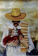Original Acrylic on Board-Cuban Artist Antonio Huizar