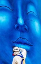 Blue Twist- Photography-Original Anuar Rabadan