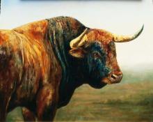 Original Oil on Canvas-Viewer by Nacho Ramirez