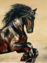 Original Oil on Canvas-Lively by Nacho Ramirez