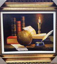 Original Oil on Canvas-Learning from the World by Ordonez