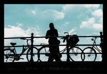 Original Photograph-Bicycles on The Pier