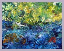 Original Oil on Canvas Seascape by Kubli