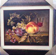 Original Oil on Canvas-Red Wine by Ordonez