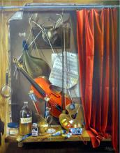 Original Oil on Canvas-My Studio by Ordonez