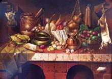 Original Oil on Canvas-Still Life by Ordonez