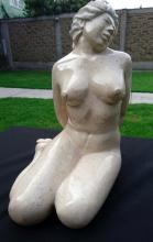 Marble Sculpture-Moment of Peace by Nequiz