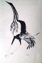 Ink on archival Paper - Roadrunner