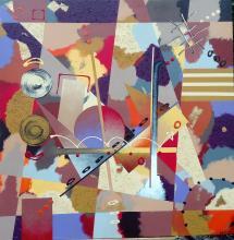 Original Mixed Media on Canvas Jag