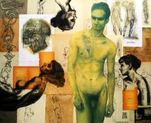 Original Mixed Media on Canvas Rene Rabadan