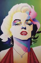 Original Mixed Media Marilyn Monroe 35 x 23 Inches