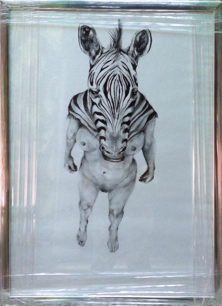 Zebra- Graphite on Archival Paper- Gabriela Garcia