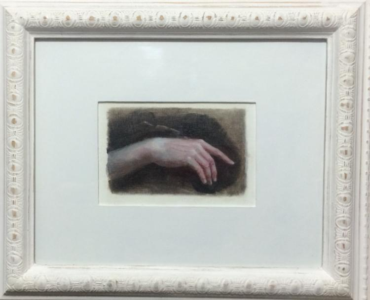 Lazarus- Oil on paper (framed)- Fran De Anda