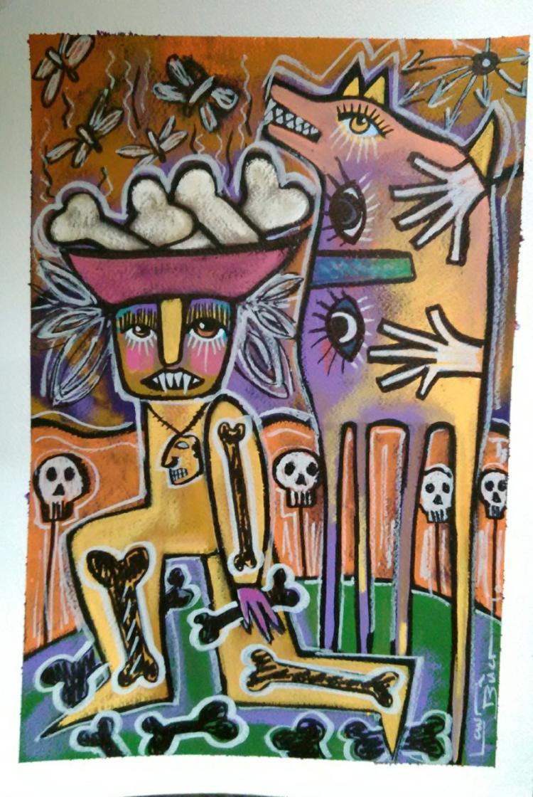 Shaman-Acrylic on Archival Paper- Laura Bueno