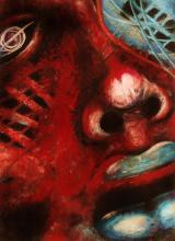 Red face- Pastel on Archival Paper- Denisse Sanchez