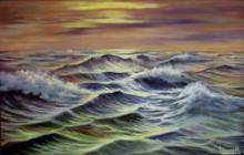 Oil on Canvas Original The Emerald Sea