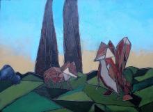 Original Oil on Wood by Lourdes Bonilla