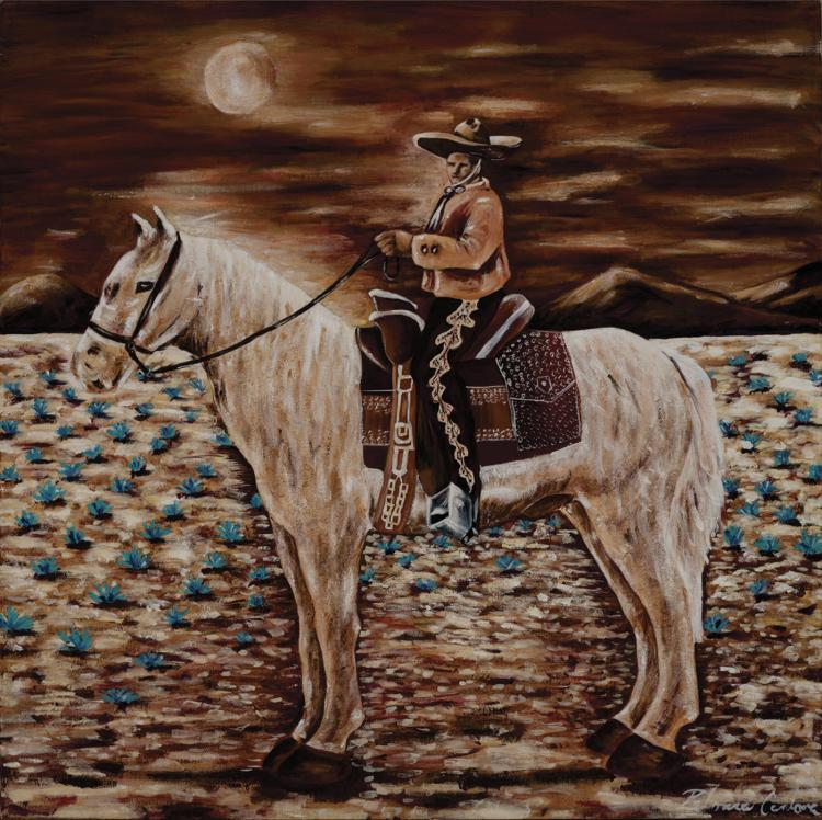 Horseman-Acrylic Original Cardona Cuevas