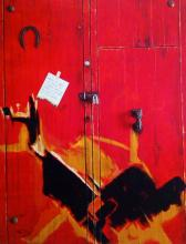 Original Mixed Media on Canvas & Wood-The Door Of Love by AnaVira