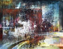 Original Mixed Media on Paper by M. Vega