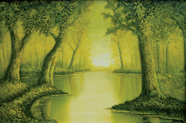 Emeral Spring For-Oil on Canvas- Original Eugenio