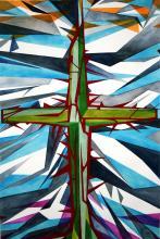 Crystal Cross- Original Watercolor on Archival Paper-Original Daniel Munguia Cortez