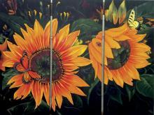 Sunflower Rise-Oil on Canvas Original Moto