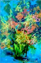 Acrylic & Texture on Canvas- Original Izabela Rowstknowska