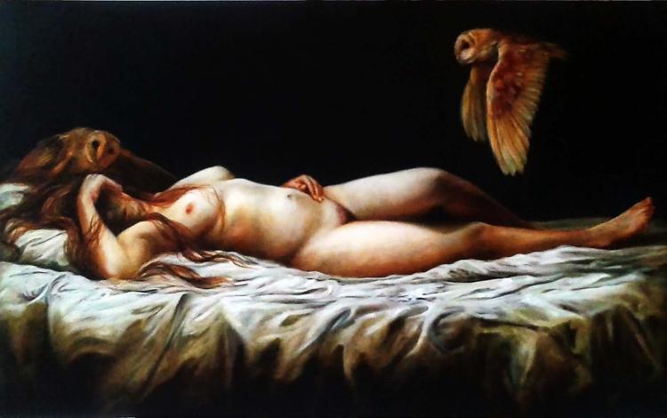Wanting You-Oil on Canvas-Original Nacho Ramirez