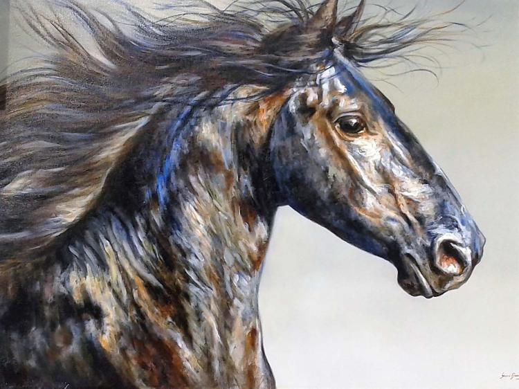 Dark Stallion-Oil Original Nacho Ramirez