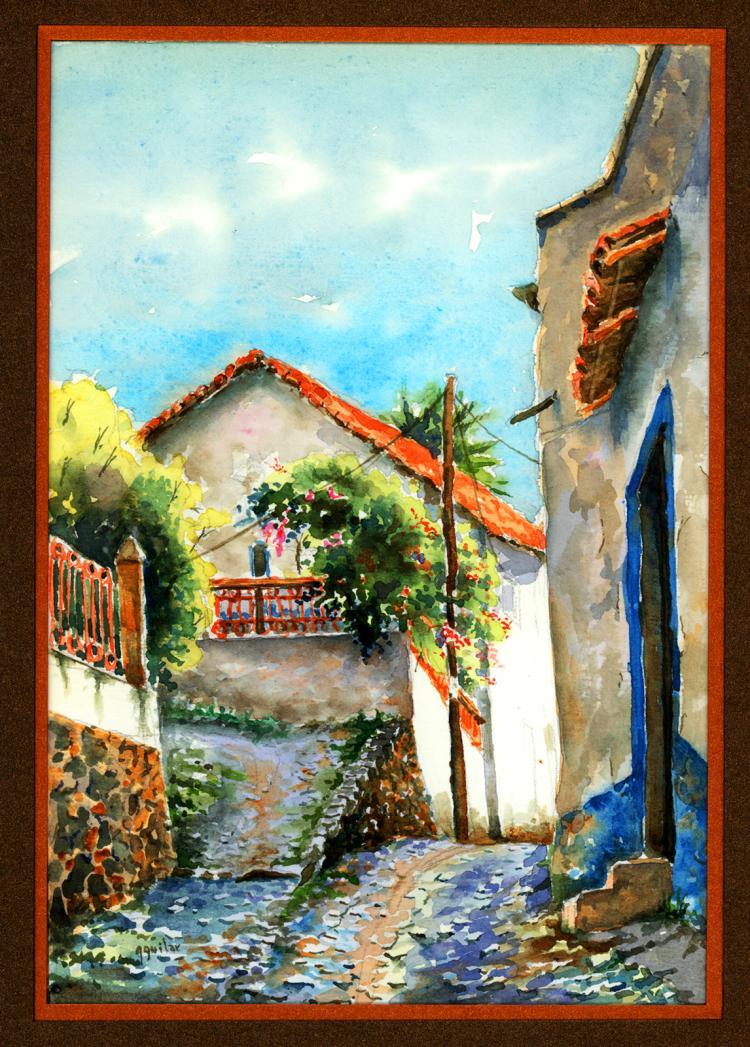 Original Watercolor on Archival Paper by Santiago Aguilar