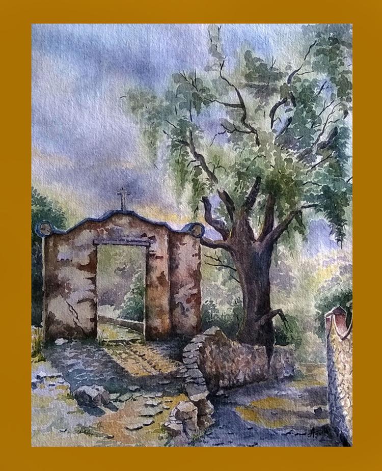 Little Cottage-Watercolor on Archival Paper Original by Santiago Aguilar