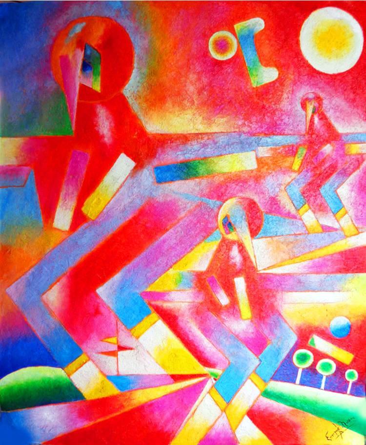 Intense ColorsOriginal Mixed Media on Archival Paper