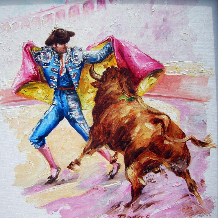 Gallant Bullfighter-Original Oil on Canvas
