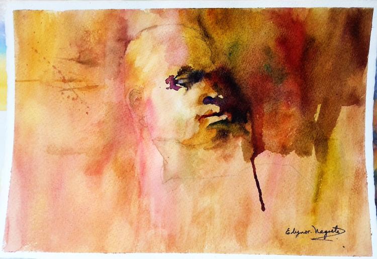 Original Watercolor on Archival Paper by Negrete