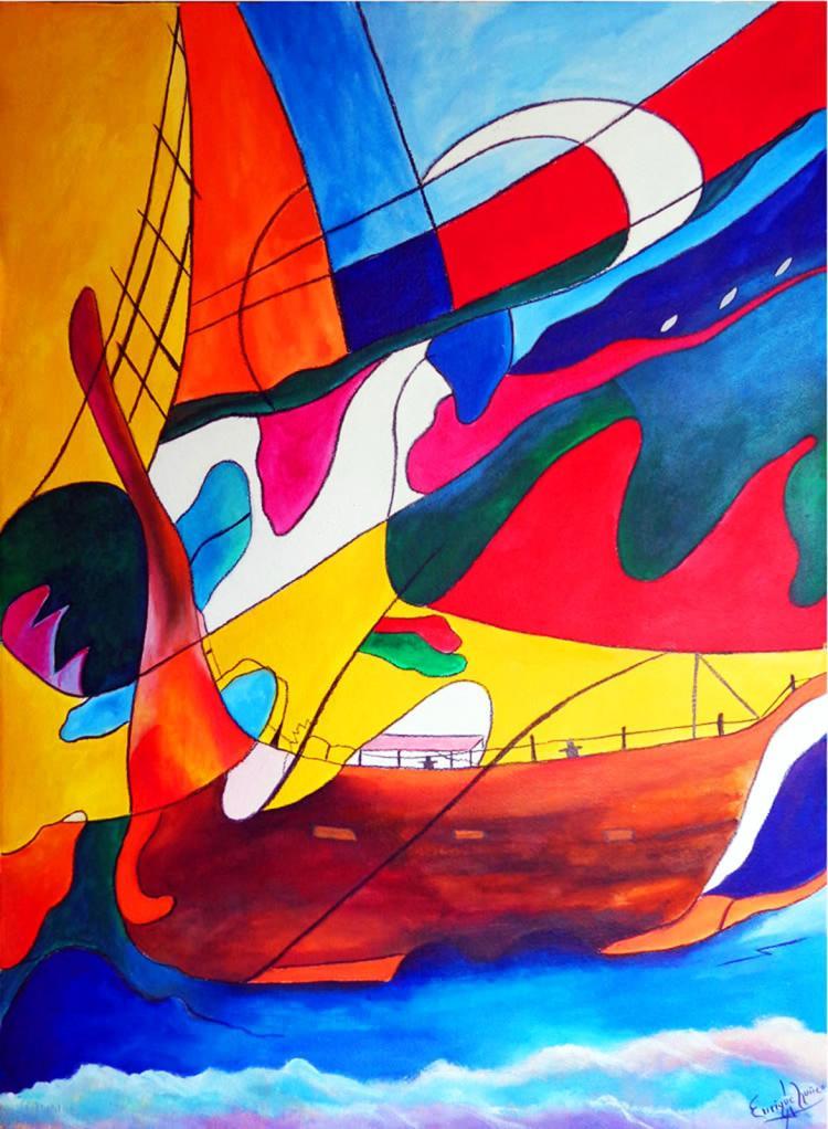 Original Acrylic on paper by Enrique Nunez