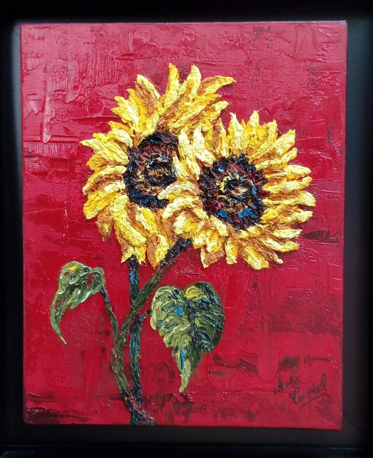 Sunflowers-Oil on Canvas Original Tello