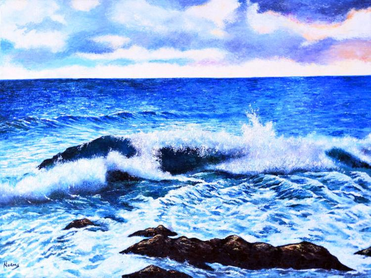 Crashing Waves-Original-María Noemí Garfias