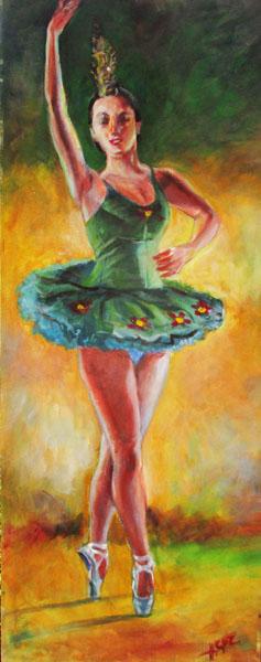 Ballerina-Original Emerald Ballerina- Hilario Vallejo Guzman