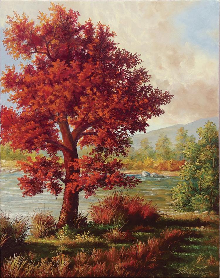 Glowing Autumn Auburns- Oil on Canvas Original Serafin