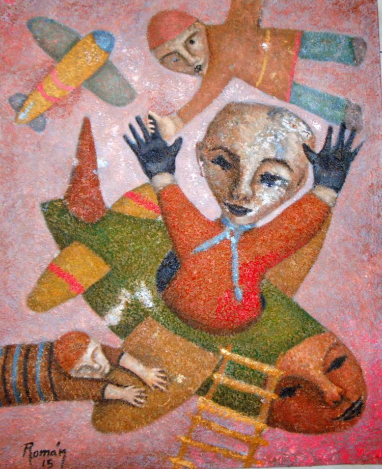 Flight to Limbo-Acrylic Original-Romani