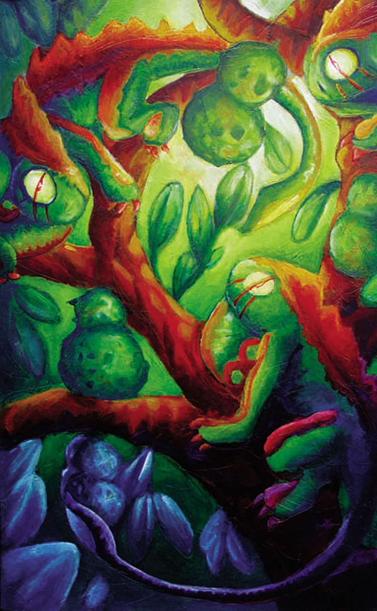 Iguanas - Oil on canvas- Tonatiuh