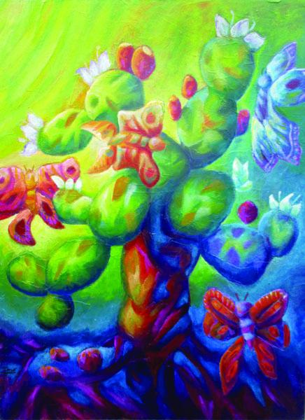 Desert of Butterflies- Oil on Canvas Original- Tonatiuh