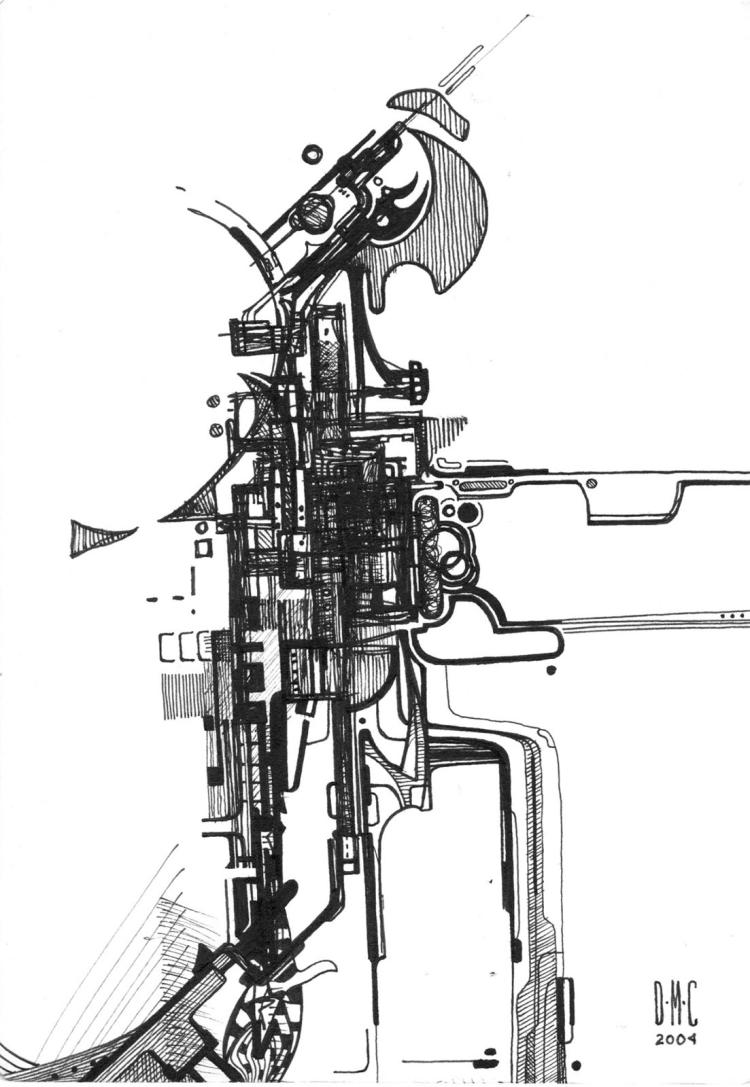 Terminator- Original Ink on Archival Paper- Daniel Munguia Cortez