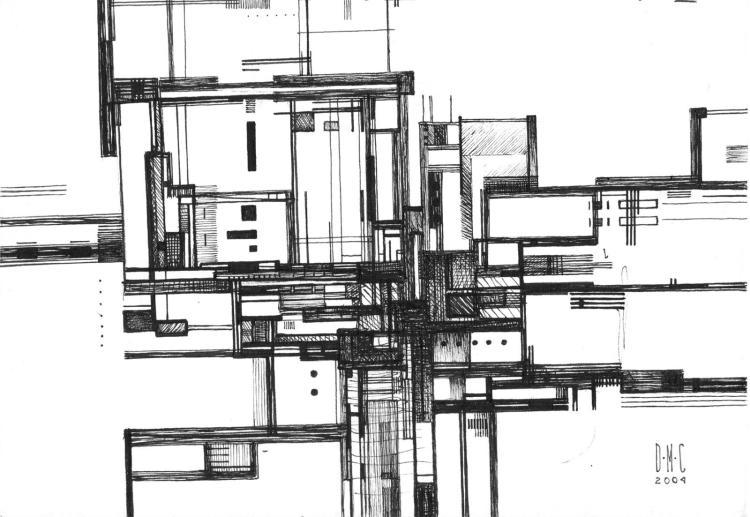 Space Condominiums- Original Ink on Archival Paper- Daniel Munguia Cortez
